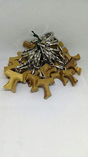 3 cm en bois d/'olivier symbole de paix Lot de 20/porte-cl/és Tau la croix de Saint Fran/çois dAssise