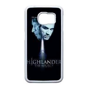 Highlander La Fuente Alta Resolución cartel Samsung Galaxy S6 Edge caja del teléfono celular funda blanca del teléfono celular Funda Cubierta EEECBCAAJ79120