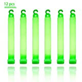 """FanSi 12 Pcs Bright Glow Sticks Longlasting Light Sticks 6"""" for Halloween, Camping, Carnivals, Party Favors and Concerts"""