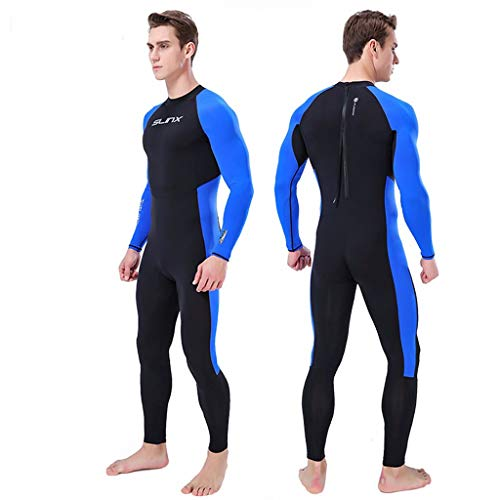 - Iusun Men's One Piece Swimsuits Long Sleeve Swimwear Snorkeling Surfing Swim Suit 3MM Full Body Super Stretch Sun Protection Diving Wetsuit