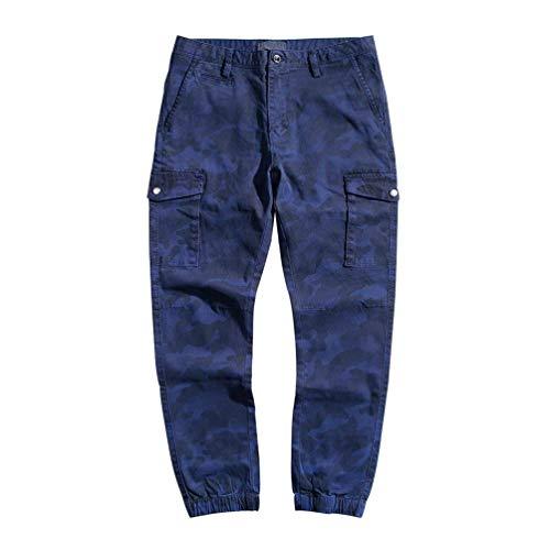 Pantalones Con Battercake Libre Cónicos Casuales Vintage Blau Vestir Al Moda De Slim bolsillo Camuflaje Deporte Multi Cómodo Aire nAwdqYBxwf
