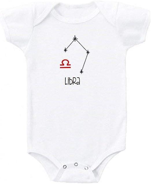Promini Libra Zodiaco signo lindo bebé mono regalo novedad camiseta traje bebé niño mono bebé niño mono traje bebé niño mono 3 meses: Amazon.es: Ropa y accesorios