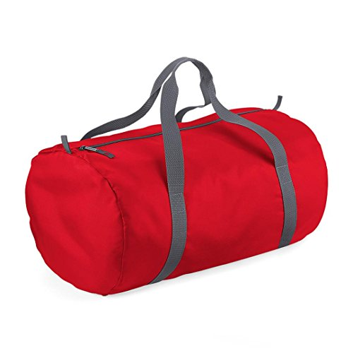 Price comparison product image BagBase Packaway Barrel Bag - Classic red