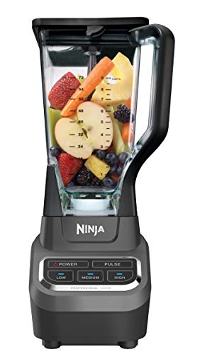 Ninja Professional 72oz Countertop Blender with 1000-Watt Base and Total Crushing Technology for Smoothies, Ice and Frozen Fruit (BL610), Black (Ninja Blender)