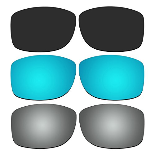 3 Pair Replacement Polarized Lenses for Oakley Jupiter Squared Sunglasses Pack - Jupiter Oakleys