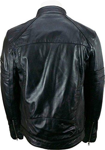 UNICORN Hommes Mode Veste - Réal Cuir Veste - Noir #1P