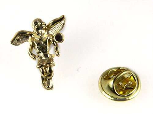 6030492 January Rhinestone Birth Month Angel Lapel Pin Guardian Protector Tie Tack Brooch