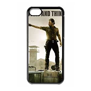 Custom Cover Case with Hard Shell Protection for Iphone 5C case with The Walking Dead lxa#317256
