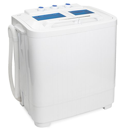 Portable Compact Washer and Spin Dry Cycle with Built in Pump (33L Washer & 16L Spin Dryer)