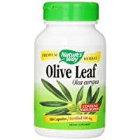 Nature's Way Olive Leaf, 100 Capsule, 500 mg