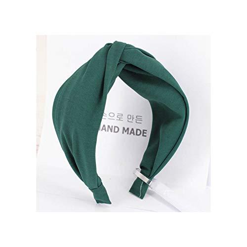 (Solid Color Cross Hairband Headband Turban Lady Wide Plastic Hair Hoop Bezel Hair Bands Accessories,7 )