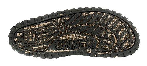 Sinner Herren Slipper, Stoff Obermaterial Zehenstegsandalen auszeichnend Eigenen Einzigartig Reifen Look, Super-Flexibel sohleneinheit Kork Fußbett Fügt Bequem und Fuß Suppor