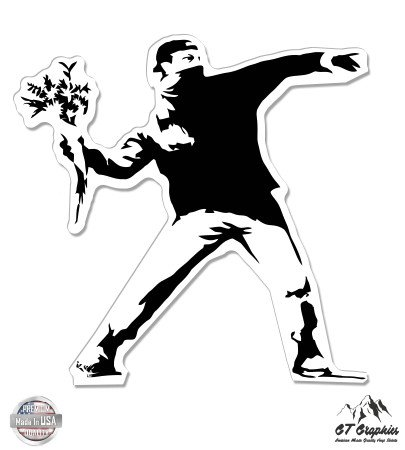 - GT Graphics Banksy Flower Thrower - 3
