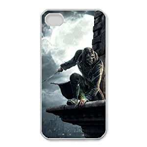 HD Beautiful image for iPhone 4 4s Cell Phone Case White dishonored 2012 adventure 2560 1440 11231 HOR8286701
