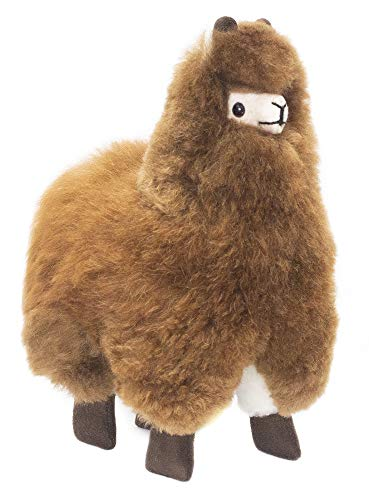 9 Inch. Brown Alpaca Fur Toy. Handmade on Genuine Baby Alpaca Wool. Alpaca Plush. Alpaca Plush (9 inch)
