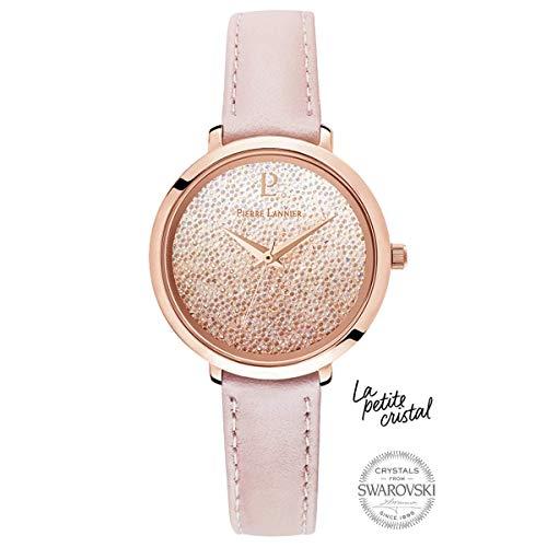 Pierre Lannier La Petite Swarovski Crystal Gradient Pink Ladies Watch