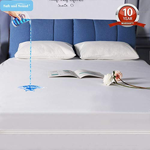 Mattress Safe - Safe and Sound Waterproof Zippered Mattress Encasement, dust Proof Mattress Cover, Vinyl Free & Hypoallergenic Mattress Protector Twin XL Size