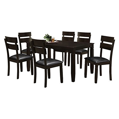 Salamanca-Cuenca 7Pc 60-Inch x 36-Inch Rectangular Dining Set, Dark Brown