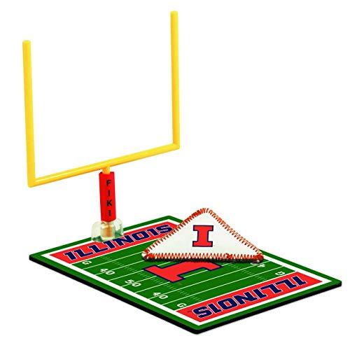 - WinCraft Illinois Fighting Illini FIKI Football Game Set - Navy,