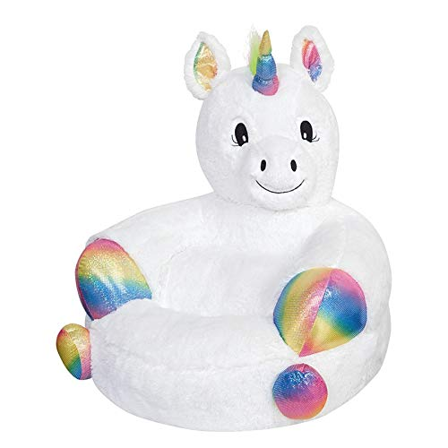 Trend Lab Kids Plush Character Chair, Neon Unicorn