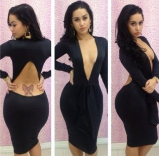 Bodycon Dresses Cleavage