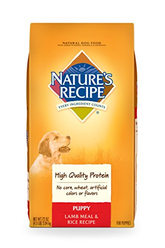 Nature'S Recipe Puppy Dry Dog Food, Lamb Meal & Rice Recipe, 4.5-Pound