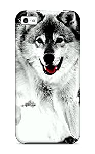 Tpu Case Cover Compatible For Iphone 5c/ Hot Case/ Wolf