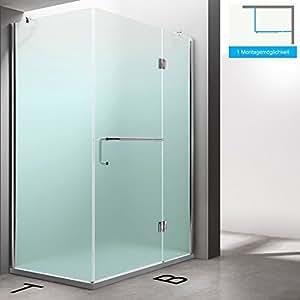 TBH: 100x 120x 190cm Diseño Mampara de ducha ravenna4, cristal de seguridad de vidrio satinado, esquina ducha, incluye al nano-recubrimiento, resistente y duradera.