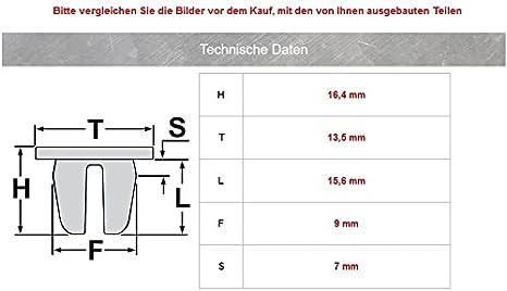 15x Metall Befestigungs Klammer Clips Innenverkleidung 8l4867276 Auto