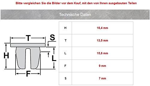 15/X metal Clips de montaje Clips Revestimiento Interior 8l4867276