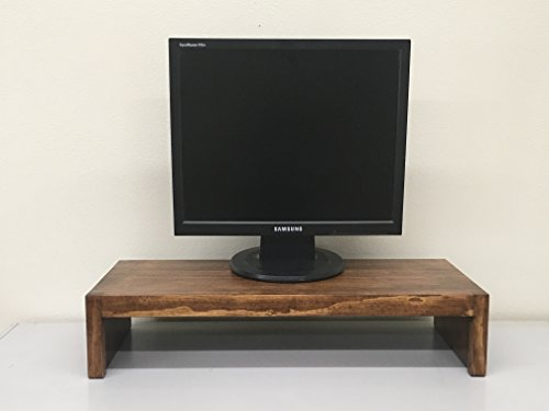 Ideas to Home TV/Monitor Riser Stand Modern Solid Pine 26