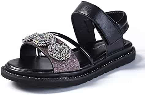 08092dcc29a2 Navoku Leather Jeweled Beaded Sandles Summer Sandals for Girls