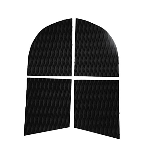 - MonkeyJack 4 Pieces Non-Slip Diamond Grooved EVA Dog Pet Paw Traction Pads Deck Grip Mat Tail Pads Customizable for SUP Surfboard Stand Up Paddle Board - Black