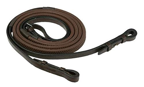 (GATSBY LEATHER COMPANY 283231 Rubber Grip Reins Havanna Brown, 5/8
