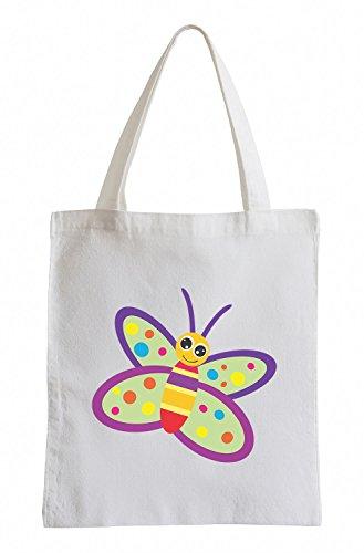 Raxxpurl Spotted farfalla Fun sacchetto di iuta