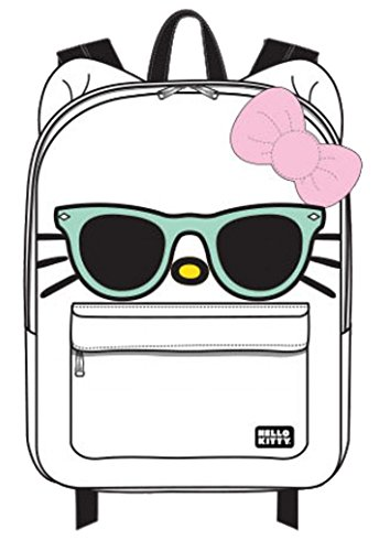 Hello Kitty Mint Sunglasses/Bow Face Backpack,White,One Size