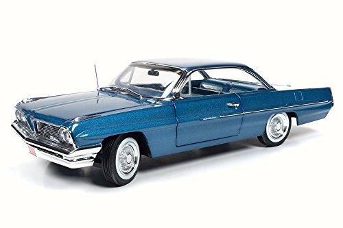 1961 Pontiac Catalina, Blue - Auto World AMM1080 - Pontiac Engine Blue