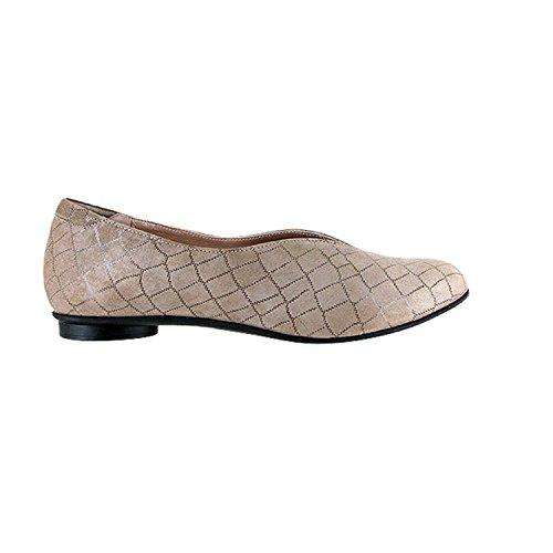 Beautifeel Donna Jolie Ecru Crocco Stampa Suede Flat Slip-on Ecru (beige)