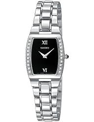 Seiko Womens SUJE79 Diamond Silver-Tone Watch