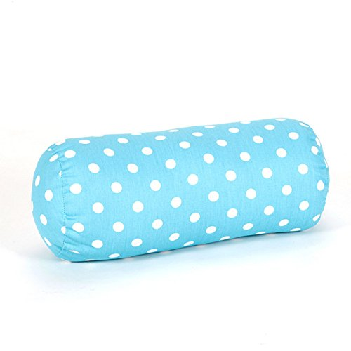 Majestic Home Goods Polka Dot Round Bolster Small Blue
