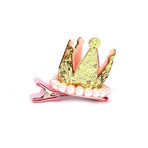 Barrette Pince Crocodile à Cheveux Forme de Couronne Cadeau de Noël Anniversaire pour Enfant