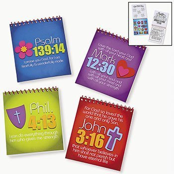 JOY FOR JESUS SPIRAL COLOR PADS WITH STICKERS  - BULK