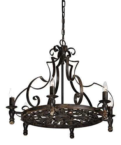 Gothic Style Chandelier (Gothic Wrought Iron Black Stunning Black Chandelier Vintage Style)