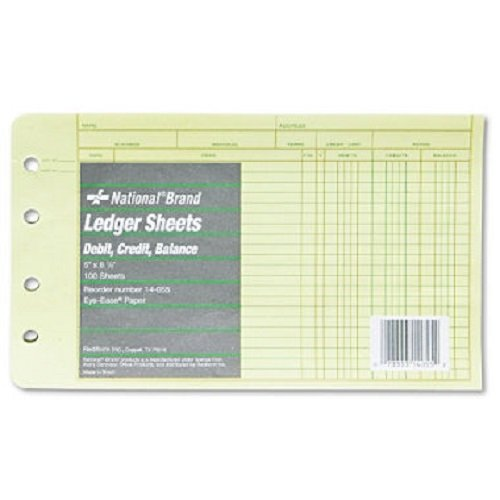 RED14055 - National Extra Sheets for Four-Ring Ledger Binder