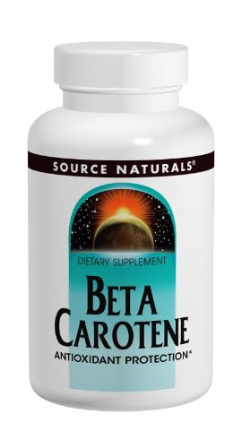 Source Naturals Beta Carotene 25,000IU, 250 Softgels (Pack of 2)