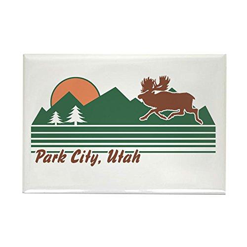 (CafePress Park City Utah Rectangle Magnet, 2