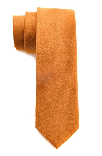 - Men's Solid Color Skinny Ties Causal Wool Cashmere Blend Slim cut Formal Necktie (One Size, Yellow)
