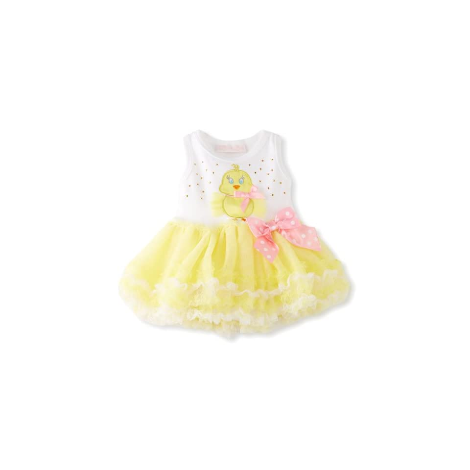 Bonnie Baby Girls Newborn Yellow Chick Tutu Dress, Yellow, 3 6 Months