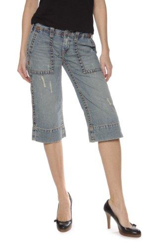 True Religion Capri Shorts BETH CROP BIG T