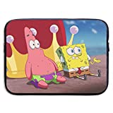 CHLING Patrick Star with Spongebob Waterproof Neoprene Sleeve Bag Cover Compatible 13-15 Inch Laptop